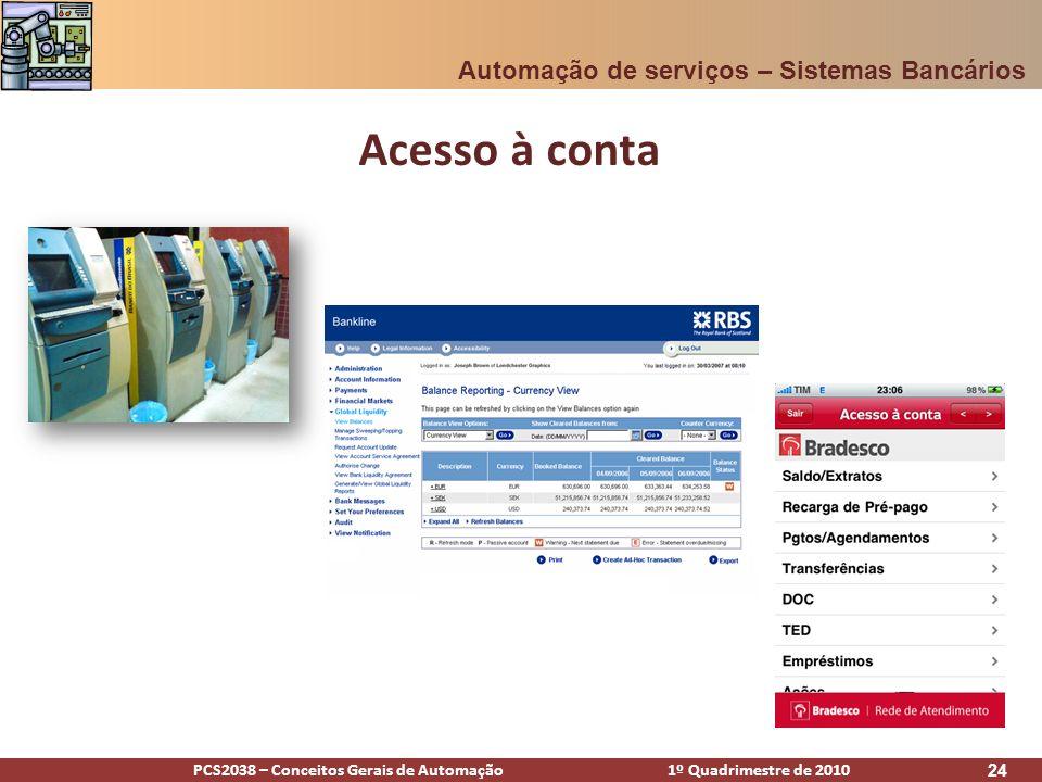 Acesso à conta Automação de serviços – Sistemas Bancários [Alex]